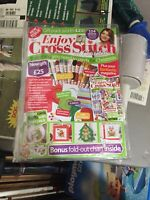 Enjoy Cross Stitch Issue 20 XMAS 2018 Factory Packaged Includes All Items