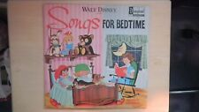 Disneyland Records Walt Disney Presents SONGS FOR BEDTIME LP 1964