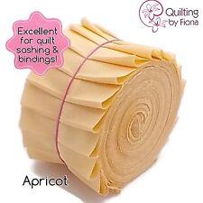 """20 x 2.5"""" Apricot Jelly Roll PreCut Fabric Strips, 2.5 inch x WOF, Die Cut"""