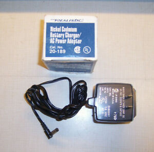 REALISTIC Nickel Cadmium Battery Charger for Pocket Scanners Cat No. 20-189
