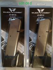Lot of 2 - Wilson Combat 1911 45acp 10 Round Extended Magazine SS 10rd Ext Mag