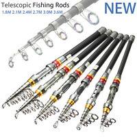 Pro Portable Carbon Fiber Ultralight Travel Telescopic Fishing Rod Sea Spin Pole