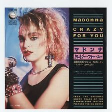 "Madonna - Crazy For You c/w I'll Fall In... (Sammy Hagar) 7"" JAPAN 45, NM VINYL"