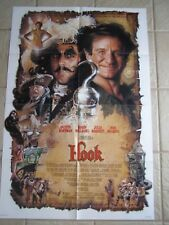 Vtg Movie Poster 1 sheet Hook 1991 Dustin Hoffman, Robin Williams, Julia Roberts