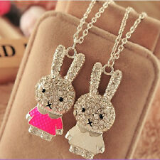 Fashion Women Crystal Rhinestone Rabbit Long Chain Pendant Necklace Jewelry Gift