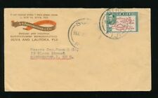 FIJI 1948 ADVERTISING ENVELOPE PRINTED 2 COLOUR FAREBROTHER 2 1/2d
