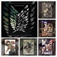 Attack On Titan Eren Levi Mikasa Anime Wall Art Poster Scroll Home Decoration
