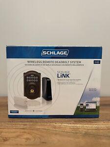 Schlage LiNK Wireless Keypad Deadbolt Starter Kit - Aged Bronze New Sealed Box