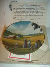 1981 Amber Waves of Grain America The Beautiful Plate w/ COA & Box