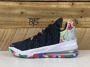 "Men's Nike Lebron XVIII 18 ""James Gang"" Size-10.5 Multicolor (CQ9283 002) NO LID"