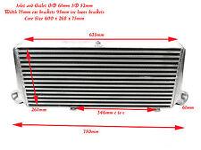 Universal High Flow Front Mount Intercooler 600mm x 268mm x 75mm Core Size