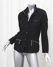 C'N'C COSTUME INTERNATIONAL Womens Black Wool Cargo Blazer Jacket Coat 26/40 4