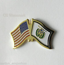West Virginia United States Us Combo State Flag Lapel Pin Badge 1 Inch