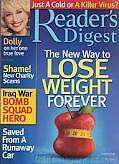 Magazine Reader's Digest January 2006 Dolly Lose Weight Forever A killer Virus