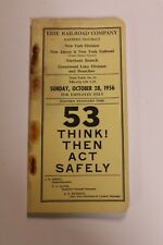 1956 ERIE  Railroad Eastern District New York Division  Employee Time Table #53