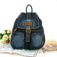 New Casual Womens Denim Backpack Notebook Schoolbag Travelbag Camping Bag Girls