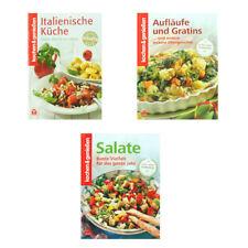 3er Set Kochbücher kochen & genießen - Italienische Küche - Aufläufe - Salate