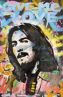 Dean Russo Art Original Artwork George Harrison The Beatles Portrait Pop Art