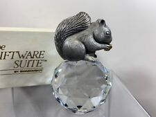 8a512a45474c Swarovski Trimlite Giftware Pewter Squirrel Paperweight With Clear Crystal