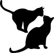 Due gatti neri FORTUNA Muro Adesivo Vinile Decalcomania Arte Murale Pet Hall Camera da letto qualsiasi stanza