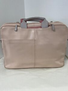 Radley Pink Leather Laptop Bag
