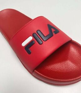 Men's Fila Drifter Red Navy White Signature Flip Flops
