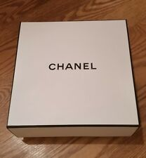 New Authentic CHANEL Signature Square Empty Gift Box White & Black