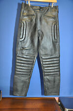 LEATHER MOTORBIKE TROUSERS SIZE 12 (short).