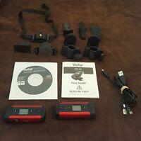Vivitar 'DVR 480' Red Digital Helmet Flash Memory Camcorder DVR480 Lot of 2 ++