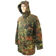 Original German Army Flecktarn Camo Parka - Military Surplus Coat Jacket Issued
