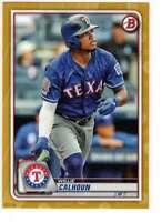 Willie Calhoun 2020 Bowman 5x7 Gold #14 /10 Rangers