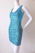 WILDFLOWER Women's  Dress   Size 8 US 4 Sleeveless Blue Sequin Mini