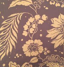 OSBORNE & LITTLE Baldaquin Lavender White Floral Cotton Remnant New