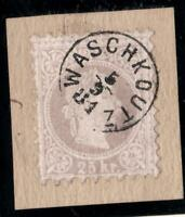 AUTRICHE N°:37 A -GRIS CLAIR  -USED SIGNED BY EXPERT - CV :  200 €