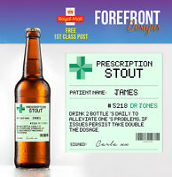 Personalised Prescription Beer/Stout Spoof Funny bottle labels - Perfect Gift!!