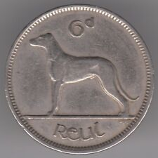 Ireland 6d Sixpence 1949 Copper-nickel Coin - Irish Wolfhound