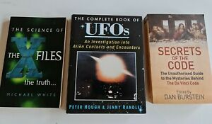 3 amazing books - UFOs - X Files truth - Secrets of the Code