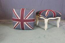 Pair of Union Jack Foot Stools
