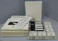 SPRINT Vintage 1988 Professional Word Processor - Floppy Discs, Guides & Manuals