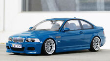 1/18 BMW M3 E46 coupe Laguna Seca blue Modified Tuning umbau CSL BBS Otto One