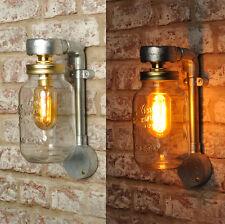 El estilo industrial Jones New Tarro de Lámpara de Pared Luz Iluminación Retro Vintage