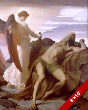ANGEL WAKING ELIJAH IN THE DESERT PAINTING OLD TESTAMENT BIBLE ART CANVAS PRINT