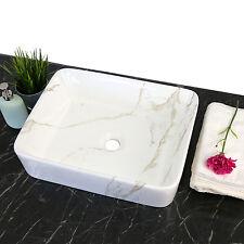 Bathroom Basin Vessel Sink Vanity Porcelain Rectangle Ceramic Art Bath Sink