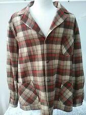 Vintage Pendleton Men's Wool Shirt Jacket Pockets Wooden Buttons Size  XL