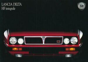 LANCIA DELTA HF INTEGRALE  Prospekt / Brochure 1989 -- deutsch für die Schweiz -