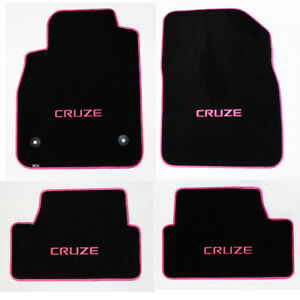 NEW 2011-2019 Chevy Cruze Black Floor Mats Embroidered Logo Choose Color Binding