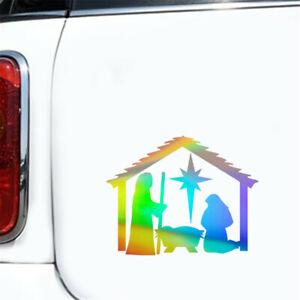 2pcs Christian Jesus Wall Stickers Car Window Door Laptop Bumper Vinyl Decal