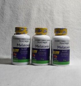 Natrol Melatonin Sleep 3mg Fast Dissolve 150 Tablets Ea  (3 Bottle) Ex.10/2021