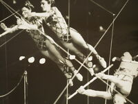 """The Flying Espanas 115 edition Ringling Brothers CIRCUS Photo B&W  8 X 10"""""""