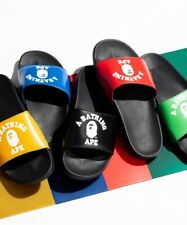 A BATHING APE Men's COLLEGE SLIDE SANDALS 5colors From Japan